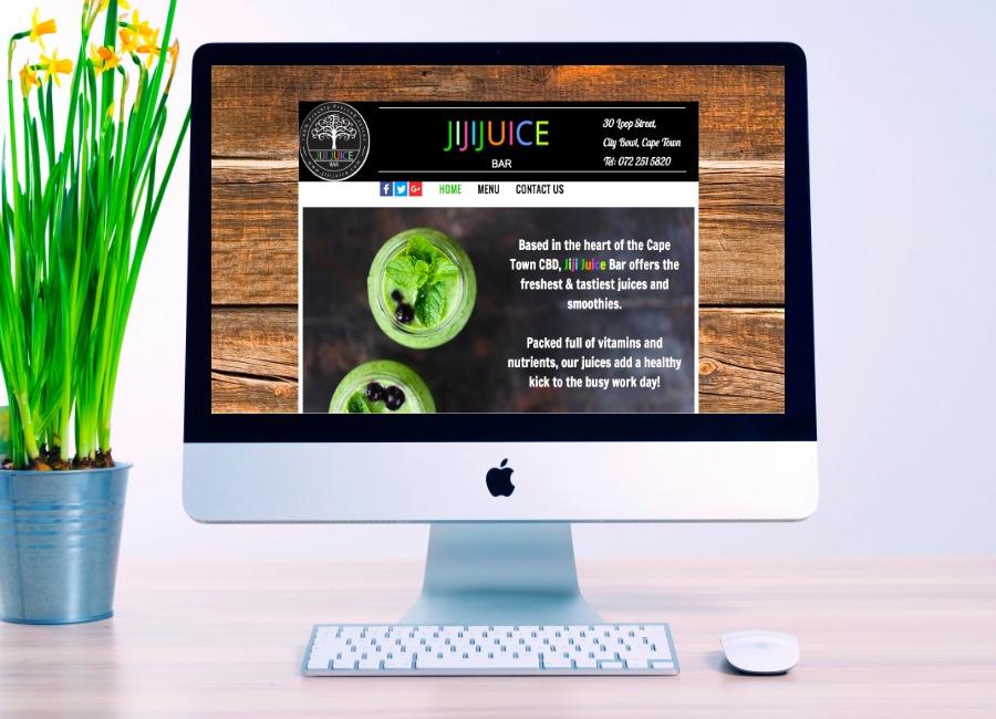 jiji juice, website design, website development