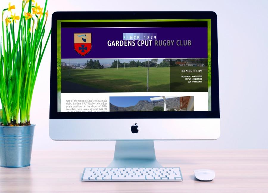 gardens rugby club, website design, website development